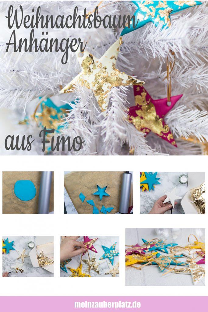 DIY: Weihnachtsbaumanhänger aus Fimo selber machen -meinzauberplatz